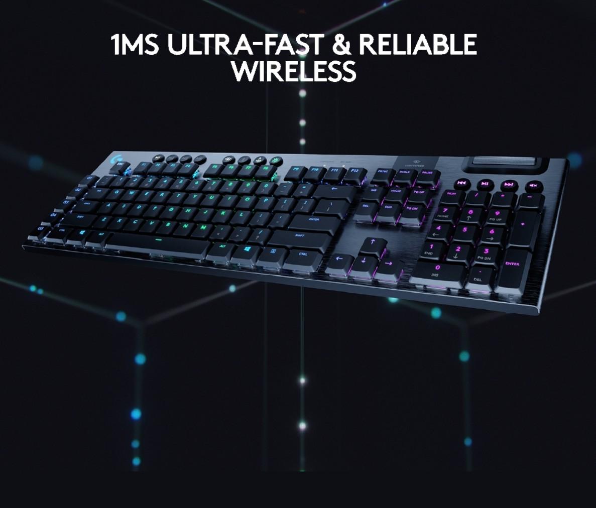 Logitech G913 Lightspeed Wireless RGB Mechanical Full-Sized Gaming Keyboard  - Gamers Hideout