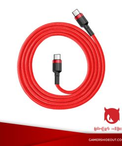 BASEUS CAFULE CABLE WITH PD 2.0 FOR TYPE-C TO TYPE-C (RED/ CATKLF-G09)