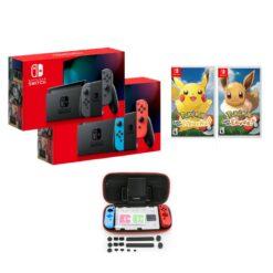 Nintendo Switch Consoles V2 + Let's Go Pikachu/Eevee