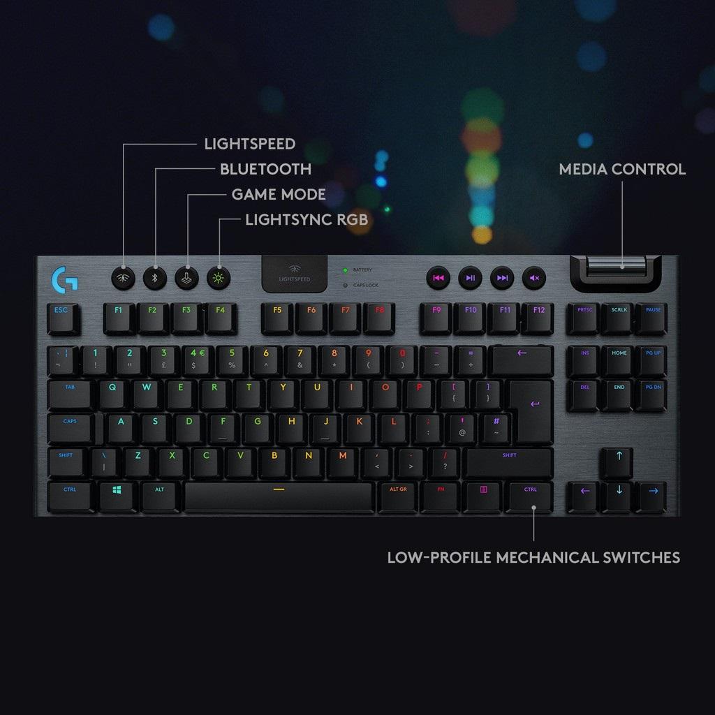 Logitech G913 TKL Lightspeed Wireless RGB Mechanical Tenkeyless Gaming  Keyboard - Gamers Hideout
